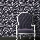 3D effect Velvet Silk Fabric Grey Black Crumpled Crushed Wallpaper