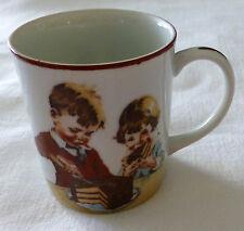 Hershey Foods Cup Mug Cover of 1934 Chocolate Cookbook Boy Girl Cake 1980