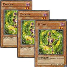 3 x Yugioh Krebons (TDGS-EN018) The Duelist Genesis Unlimited/1st Edition Cards