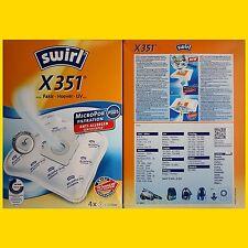 4 Beutel SWIRL X 351 MicroPor Staubsaugerbeutel X351 X350 frei Haus Warensendung