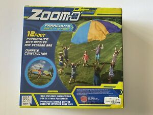 Zoom-O 12 Foot Parachute With Handles and Storage Bag