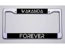"BLACK PANTHER FANS!  ""WAKANDA/FOREVER"" LICENSE PLATE FRAME"