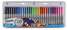 28 Sharpie Black / Coloured Permanent Marker Pens Permenent Full Size