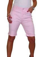 Womens Plus Size Jean Style Shorts Chino Sheen light Pink NEW 14-24