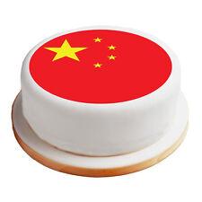 "China / Chinese Flag - 8"" Pre-Cut Round Cake Topper Premium Sugar Icing Sheet"