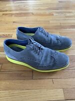 Cole Haan Original Grand Magnet Suede With Neon Green Yellow Bottom Men's 9.5