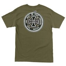 Independent Trucks Past Present Future Skateboard T Shirt Military Green Large