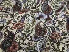 4 Metres Ivory & Lilac Floral & Paisley 100% Viscose Summer Dress Fabric.