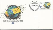 1983 FDC World Communications Year FDI 18 May 1983 East Brisbane Qld 4169