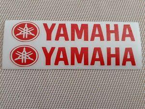 Hochwertige Premium Yamaha Motorrad Aufkleber-Sticker in Rot-