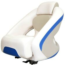 Chaparral Boat Bolster Seat 31.00048 | Captain's Chair White/Blue/Gray