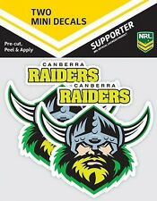 620010 CANBERRA RAIDERS NRL SET OF 2 MINI DECALS CAR STICKERS ITAG