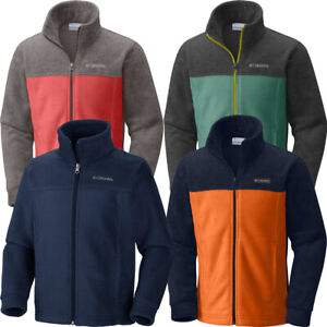 "New Boys Columbia ""Steens Mountain II"" Full Zip Fleece Jacket Sweaters Pullover"