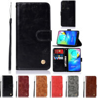 Luxury Magnetic Leather Flip Wallet Case Cover For Motorola Moto G Power 2020