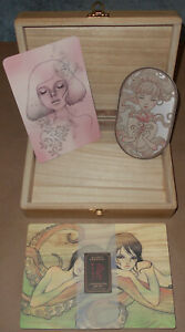 Audrey Kawasaki Omamori Postcard Series One & Two Signed Numbered Box Art Print