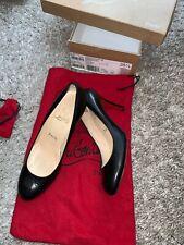 Christian Louboutin Simple Pump 85 black leather heels shoes EU35.5 UK2.5 US4.5