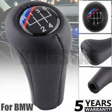 PU Leather Manual Gear Shift Knob 5 Speed For BMW 1 3 5 6 Series E46 E60 E87 E90