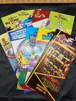 Six Flags 45th Anniversary Theme Park Brochures 2006 Lot Of 9 Different Parks