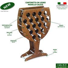 Cantinetta CALICE noce legno vino botte cantina rovere mobile porta bottiglie