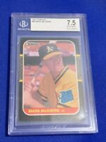 1987 Donruss Mark McGwire Oakland Athletics RC #46 BGS 7.5 NM+ Rookie Card