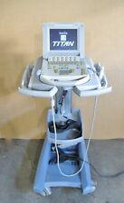 Sonosite Titan Ultrasound 2006 With L2510 5 Mhz Probe Data Card Cart Power