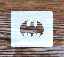 Batman Symbol Face Painting Stencil 7cm x 6cm 190micron Washable Reusable