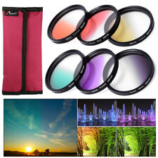 6pcs 58mm Graduated Color Filter Kit for Canon EOS 1100D 600D 18-55mm Lens LF349