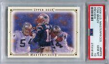 2008 Upper Deck Masterpieces Preview #MPP8 Tom Brady New England Patriots PSA 10