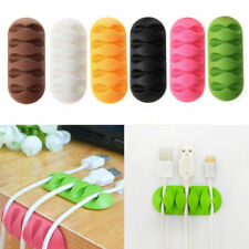 5-Clip Earphone Cable TPR Winder Organizer Charger Cable Holder Fixing Device CY