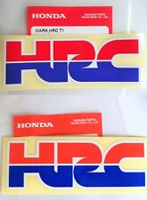 GENUINE HONDA HRC HONDA RACING DECAL STICKER BADGE RED & BLUE ***UK STOCK***
