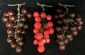 Group Of 3 Stone/Alabaster Grapes (M)