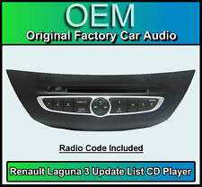 Renault Laguna 3 CD player, Renault Update List car stereo radio + Code