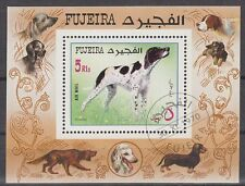 Fujeira 1970 Bl.38 A fine used c.t.o. Hunde Dogs Pointer