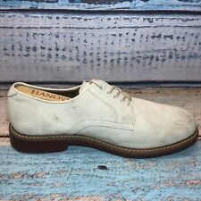 Men's Shoes BASS Brockton Oxfords Sz 9.5 EEE Extra Wide White Suede Bucs