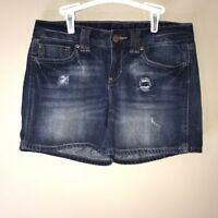 Womens GAP Disstressed Jean Shorts Size 2