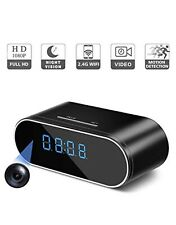 HD1080P Mini Nanny Cam Clock Camera Wifi Security IP Wireless CCTV WebCam Alarm