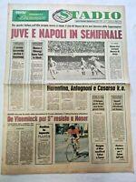 QUOTIDIANO STADIO 17-3-1977 COPPA UEFA JUVENTUS-MAGDEBURGO NAPOLI-SLASK WROCLAW