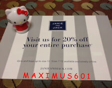 Janie and Jack 20% Off Entire Purchase Coupon Code Expires 1/01/21