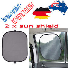 CAR SUN SHIELD x 2 Side Panes Protection Holidays Vacuum Cups 44 x 37 CM REER