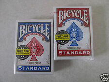 Marked Bicycle Cards -2- Sealed Decks of Blue and Red Rider Back