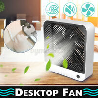Portable Notebook Desk USB Fan 2-Speed Air Conditioner Fan Rechargeable 4W