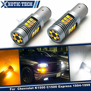 LED 2-Color Switchback Front Turn Signal Light For Chevrolet K1500 C1500 1994-99