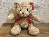 New Keel Toy Light Brown Teddy Plushie Red Bow Lovely Gift