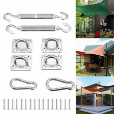 8X Stainless Steel Outdoor Garden Sun Shade Canopy Sail Fixing Fitting Kit Set