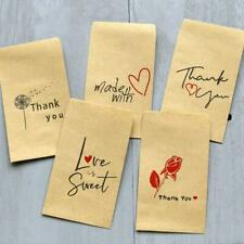50pcs Kraft Paper Bag Envelope Package Gift Bags Birthday  Party Wedding Favors
