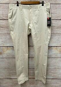 Under Armour Golf Pants Mens 40X36 Ivory Stretch Comfort Waist Golf Pants New