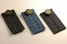 3 Easy Fit Buttons for Jeans Waist Extenders with Bronze Colored Metal Button