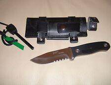 Coltello sopravvivenza Bushcraft Caccia Pesca Campeggio Survival Knife acciarino