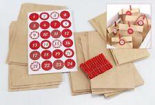Bricolage Calendrier de L'Avent Set Sacs Advent en Papier 24 Déco Pinces