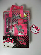 Hello Kitty Stationery Filled Tote Bag Pen School Girls Notebook Ruler New